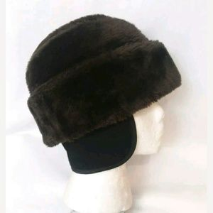 Other - Warm Brown Faux Fur Cossack Hat Ear Flap Neck Band